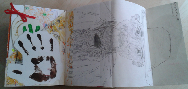 And inside a copy of Van Gogh's self-portrait.