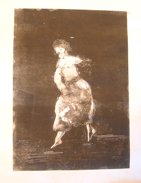 dancing figure - monoprint