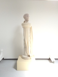 Agave: terracotta, carved plinth, cotton stockinette